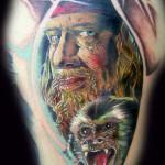 Captain Barbossa tattoo 150x150 Tattoo artist gallery<br>Ettore Bechis