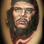 Che Guevara tattoo 150x150 Tattoo artist gallery<br>Ettore Bechis