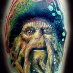 Davy Jones tattoo 150x150 Tattoo artist gallery<br>Ettore Bechis