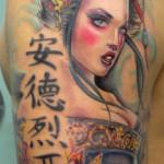 Geisha tattoo 150x150 Tattoo artist gallery<br>Ettore Bechis