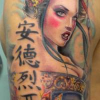 Geisha tattoo 200x200 Tattoo Artist gallery: Ettore Bechis