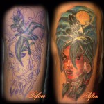 Indian Girl tattoo 150x150 Tattoo artist gallery<br>Ettore Bechis