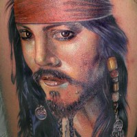Jack Sparrow tattoo 200x200 Tattoo Artist gallery: Ettore Bechis