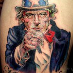 Uncle Sam tattoo 150x150 Tattoo artist gallery<br>Ettore Bechis