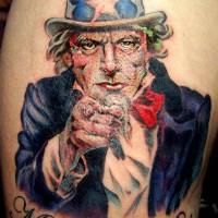 Uncle Sam tattoo 200x200 Tattoo Artist gallery: Ettore Bechis