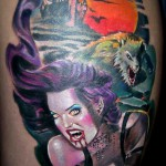 Vampire and Werewolf 150x150 Tattoo artist gallery<br>Ettore Bechis