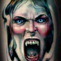 Vampire woman tattoo