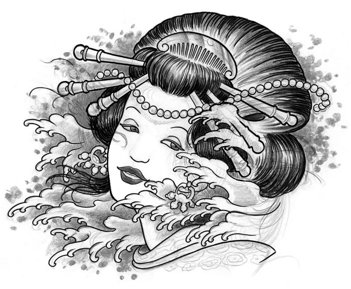 Super Geisha tattoo - Gallery Disegni UY86