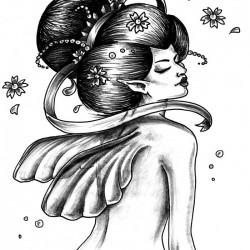 Geisha by Francesca Tullio 1 250x250 Disegni Tattoo