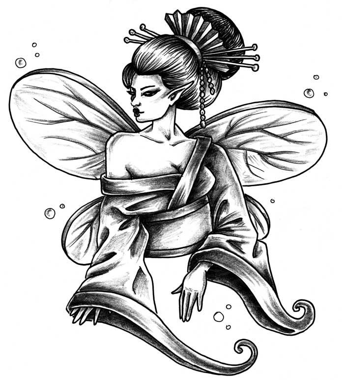 Preferenza Geisha tattoo - Gallery Disegni AX51
