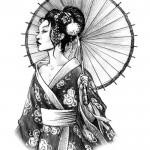 Geisha by Luca Tarlazzi 150x150 Disegni Tattoo   Geisha