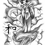 Geisha by Massimiliano mariani 150x150 Disegni Tattoo   Geisha