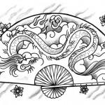 Ventagli by Massimiliano Mariani 150x150 Disegni Tattoo   Geisha