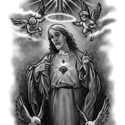 Jesus tattoo 250x250 Disegni tattoo   Religiosi
