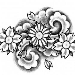 cherry blossom tattoo ok 250x250 Drawings Tattoo   Flowers