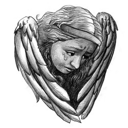 crying angel tattoo