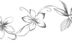 floral tattoo 250x153 Disegni Tattoo   Fiori