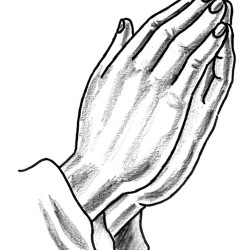 Hands in prayer tattoo
