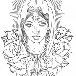 Indian Virgin Mary tattoo