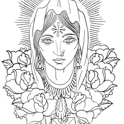 indian Virgin Mary tattoo 250x250 Disegni tattoo   Religiosi
