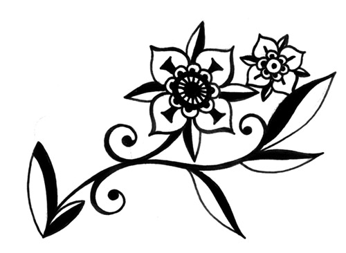 Line Art Flower Drawing : Drawings tattoo flowers ideatattoo