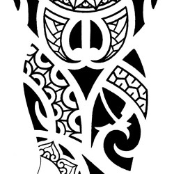 polynesian tribal tattoo for arm
