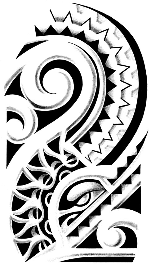 Tattoo flash polynesian ideatattoo for Polynesian tattoo designs