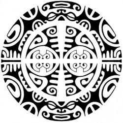 round polynesian tattoo