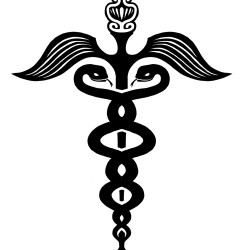 caduceus snake tattoo