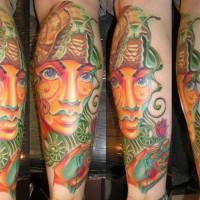 gesicht mit schnecke 200x200 Tattoo Artist gallery: Osa Wahn