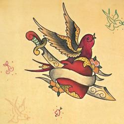 heart with swellow old school tattoo 250x250 Disegni Tattoo   Old School