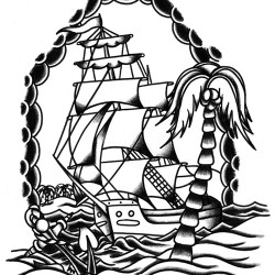 ship old school tattoo 250x250 Drawings Tattoo