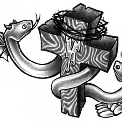 snake good evil tattoo 250x250 Disegni Tattoo   Serpenti