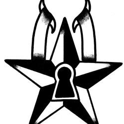 star lock tattoo 250x250 Disegni Tattoo   Old School