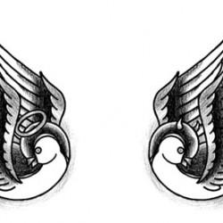 swellows good evil old school tattoo 250x250 Disegni Tattoo   Old School