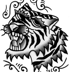 tiger old school tattoo
