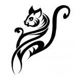 tribal cat tattoo 150x150 Tattoo flash   Tribal animals