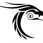 tribal dragon tattoo 150x150 Tattoo flash   Tribal animals