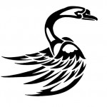 tribal swan tattoo