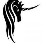 tribal unicorn tattoo 150x150 Tattoo flash   Tribal animals