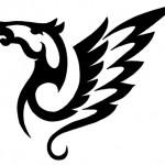 tribal winged horse tattoo 150x150 Tattoo flash   Tribal animals