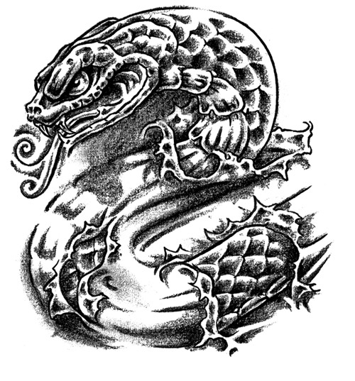 Tattoo Flash Snake Ideatattoo