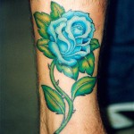 blue rose tattoo by Hula Hula, Sun Dance Tattoo, Bologna (Italy)