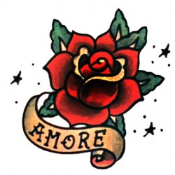 colour rose with script tattoo 250x250 Drawings Tattoo