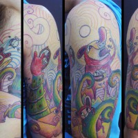 crazy animals tattoo