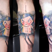 crazy girl tattoo