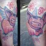flying pig tattoo 150x150 Tattoo Artist Gallery: Morof