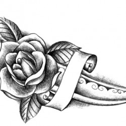 knife and rose tattoo 250x250 Disegni Tattoo   Rose