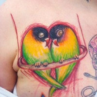 love parrots tattoo
