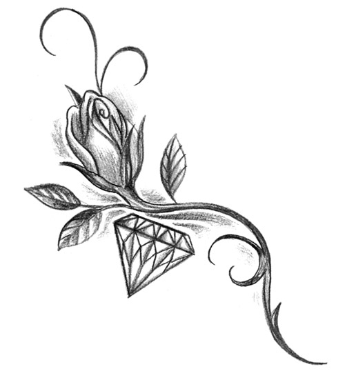 Tattoo Flash Gallery Rose